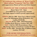 Katy Carr's Nov Dec Tour Dates