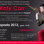 Katy Carr is very pleased to be performing tonight 3rd Nov at 7.30pm at Devonia - Lady of Czestochowa ( Polish Church)  2 Devonia Road, Islington, N1 8JJ
